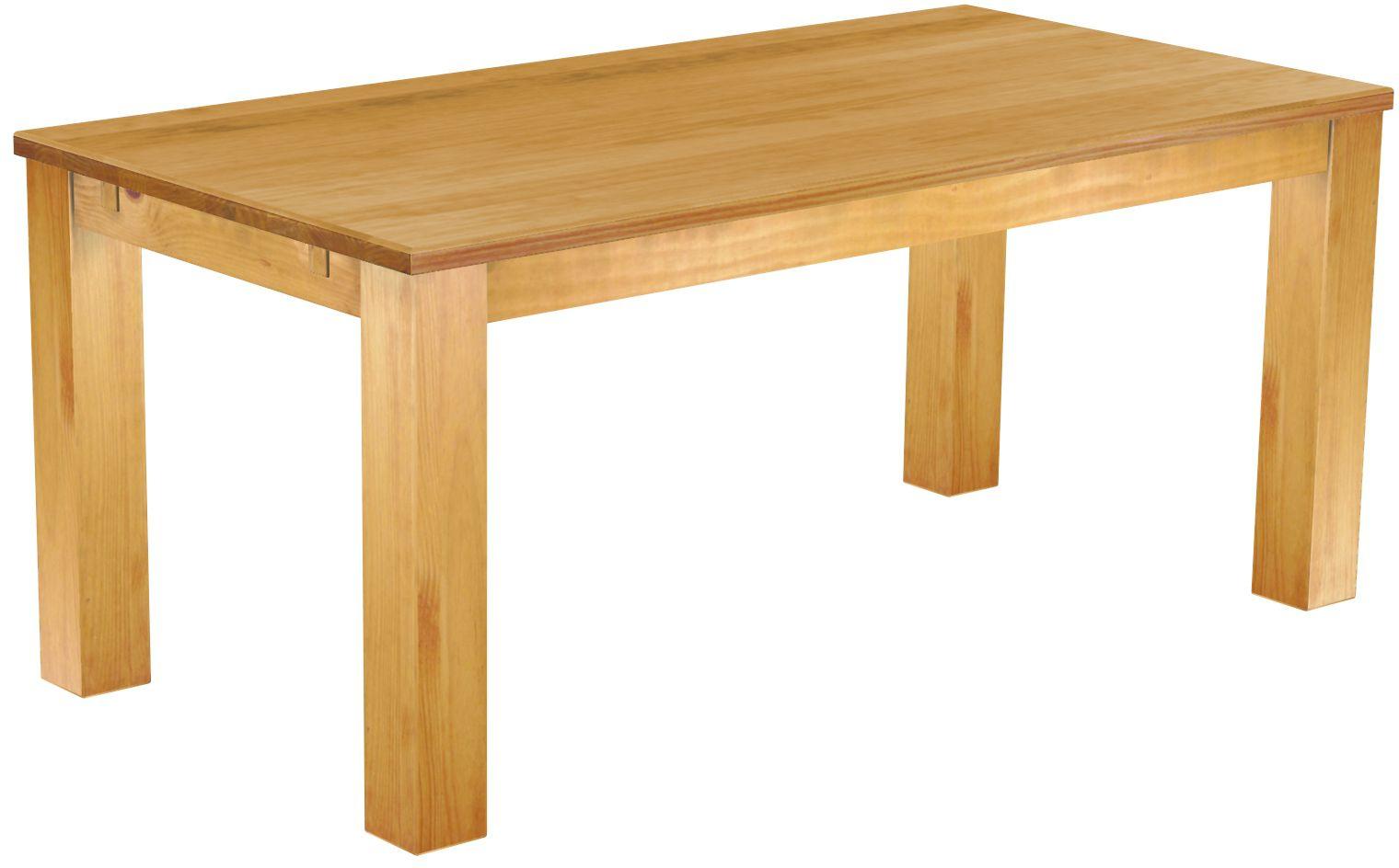 Tisch 180x90 Honig Hell Massive Pinie