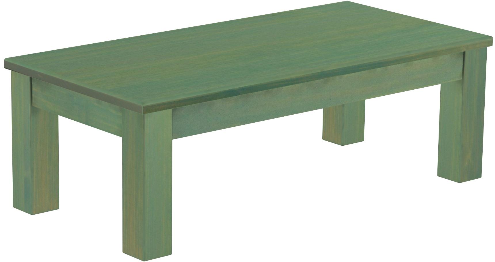 Couchtisch 115x56 Mintgrün Bambus Massive Pinie