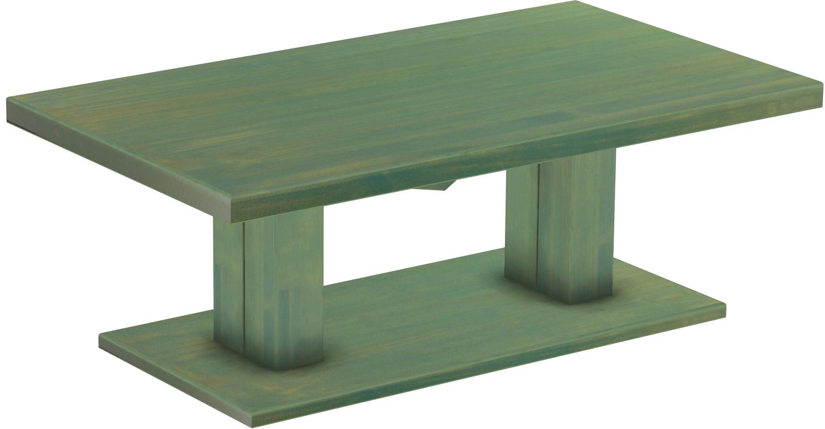 Couchtisch Uno 140x80 Mintgrün Bambus Massive Pinie