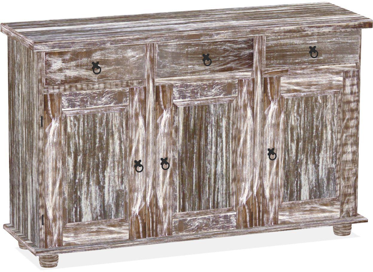 Anrichte Sideboard Shabby Antik Eiche Massive Pinie